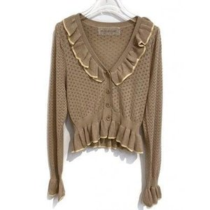 crochet frill cardigan (grege)|ブランド公式 LOCOMALL ロコモール