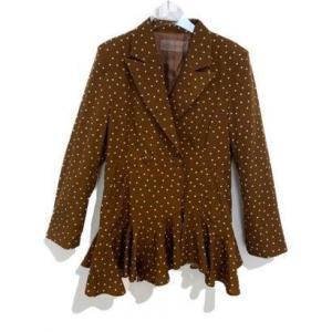 dot flared jackt (brown)|ブランド公式 LOCOMALL ロコモール