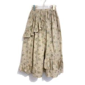 rose tiered skirt (beige)|ブランド公式 LOCOMALL ロコモール