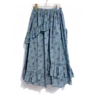 rose tiered skirt (sax)|ブランド公式 LOCOMALL ロコモール