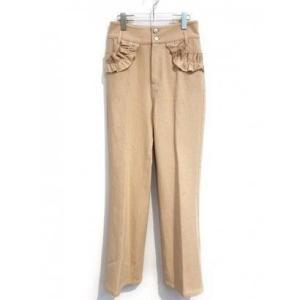 frill denim pants (coral)|ブランド公式 LOCOMALL ロコモール