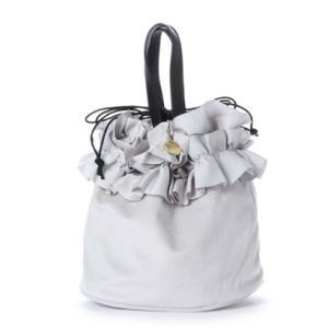 ジジ トラヴァイユ JiJi travail フリル巾着トートバッグ (グレー) ブランド公式 LOCOMALL ロコモール