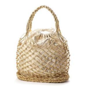 ジジ トラヴァイユ JiJi travail 巾着付きメッシュバッグ (ゴールド) ブランド公式 LOCOMALL ロコモール