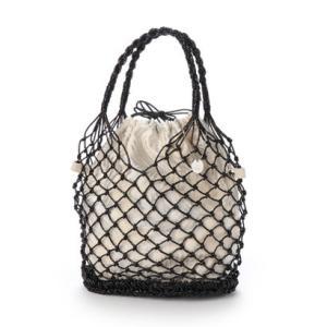 ジジ トラヴァイユ JiJi travail 【インナーバッグ付き】メッシュバッグ (ブラック) ブランド公式 LOCOMALL ロコモール