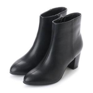ジェリービーンズ JELLY BEANS メタルポイントヒールショートブーツ 141-7392 (黒)|locondo-shopping