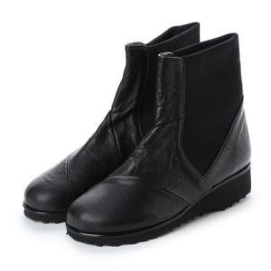 ジェイエスハートレーベル JS HEART LAVEL 日本製本革ショートブーツ (ブラック)