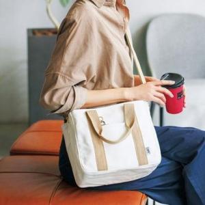 クラソ Kraso 荷物を放り込むだけでスッキリ仕分け T字形の仕切り付きトートバッグ〈ミニ〉 (ベージュ×ホワイト)|ブランド公式 LOCOMALL ロコモール