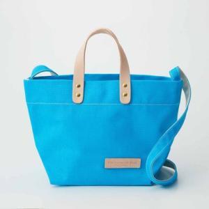 クラソ Kraso デイリーサイズがうれしい 日本製のカラー帆布 ショルダートートバッグ (ネオンブルー)|ブランド公式 LOCOMALL ロコモール