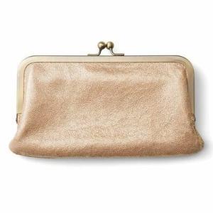 クラソ Kraso きらり箔プリントが華やか ダブルがま口が便利な本革やわらか長財布 (ゴールド)|ブランド公式 LOCOMALL ロコモール
