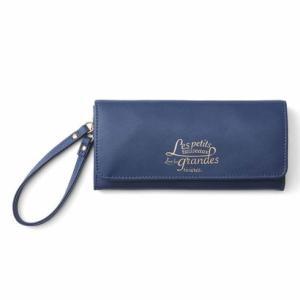クラソ Kraso 薄くて大容量! がばっと開くギャルソン財布 (ブルーベリーボンボン)|ブランド公式 LOCOMALL ロコモール