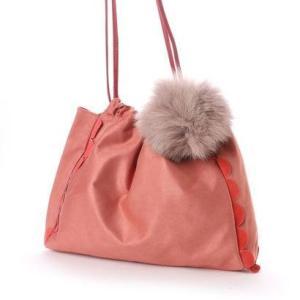 カカトゥ kakatoo サイドフリルスエードライクトートバッグ (ピンク)|ブランド公式 LOCOMALL ロコモール