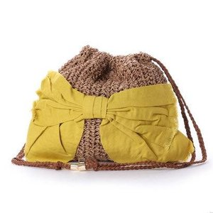 カカトゥ kakatoo ペーパーリボン巾着バッグ (イエロー)|ブランド公式 LOCOMALL ロコモール