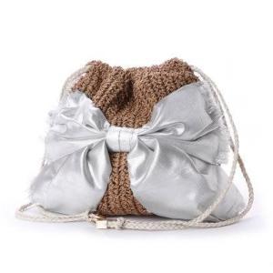 カカトゥ kakatoo ペーパーリボン巾着バッグ (シルバー)|ブランド公式 LOCOMALL ロコモール