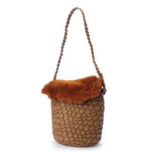 カカトゥ kakatoo エコファーフラップ付きメッシュバケツトートバッグ (ブラウン)|ブランド公式 LOCOMALL ロコモール