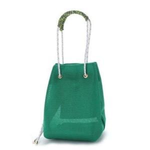 カカトゥ kakatoo マルチカラーハンドルメッシュドロストバッグ (グリーン)|ブランド公式 LOCOMALL ロコモール