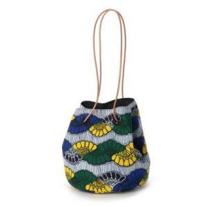 カカトゥ kakatoo アフリカンプリント巾着バッグ (ブルー)|ブランド公式 LOCOMALL ロコモール