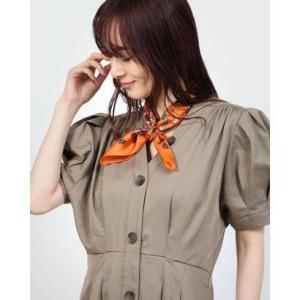 カカトゥ kakatoo ハニーフラワーシルクスカーフ (オレンジ)|ブランド公式 LOCOMALL ロコモール