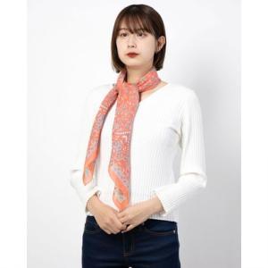 カカトゥ kakatoo 麻レーヨンナチュラルペルシャスカーフ (オレンジ)|ブランド公式 LOCOMALL ロコモール