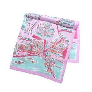 カカトゥ kakatoo ロンドン地図柄シルクスカーフ (パープル)|ブランド公式 LOCOMALL ロコモール