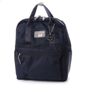 27a6e8457a9a ラ バガジェリー LA BAGAGERIE 10ポケット持ち手付きリュック (NAVY)