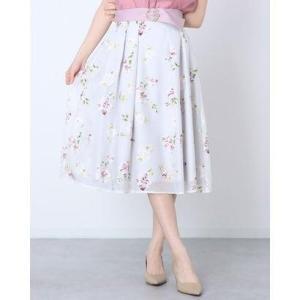 レッセ パッセ LAISSE PASSE オパールフラワープリントスカート (パウダーピンク)|ブランド公式 LOCOMALL ロコモール