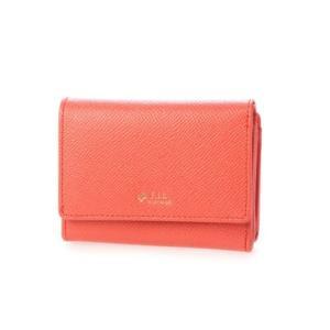 シュヴァル エレ Le cheval aile レザーコンパクト三つ折り財布 (オレンジ)|ブランド公式 LOCOMALL ロコモール