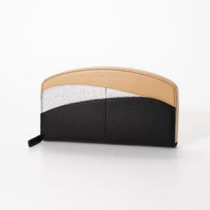 ミル コレット Mille corret 【Mille corret】ONDA 長財布 レディース 和風 和カラー 財布 伝統模様 (ブラック×シルバ|ブランド公式 LOCOMALL ロコモール