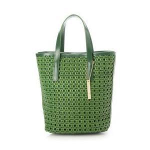 ミアン MIAN メッシュ合皮2wayトートバッグ (グリーン) ブランド公式 LOCOMALL ロコモール