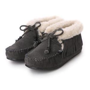 ミネトンカ Minnetonka mi-fringe-slipper-bootie-40019 (GREY)