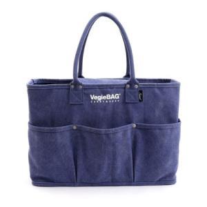 ナナノエル Nananoel トートバッグ  VegieBAG ラージ キャンバス 大容量 お買い物 エコバッグ (ブルー)|ブランド公式 LOCOMALL ロコモール