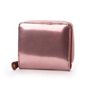 ナナノエル Nananoel sparkling メタリックレザーラウンド二つ折り財布 (ピンク)|ブランド公式 LOCOMALL ロコモール