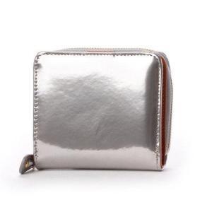 ナナノエル Nananoel sparkling メタリックレザーラウンド二つ折り財布 (シルバー)|ブランド公式 LOCOMALL ロコモール