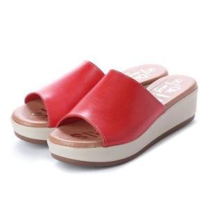 オー マイ サンダルズ Oh my Sandals 【INTER-CHAUSSURES】クッションインソールミュールサンダル (レッド)|ブランド公式 LOCOMALL ロコモール