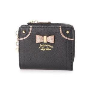 プリムヴェールリズリサ Primevere LIZ LISA ケイトシリーズ ゴールドリボン付二つ折り財布 (ブラック)|ブランド公式 LOCOMALL ロコモール