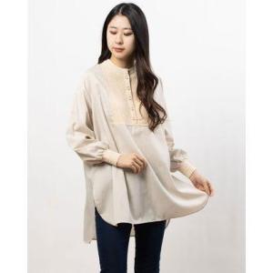 ペルルペッシュアウトレット Perle Peche outlet TORRAZZO DONNA ニットドッキングシャツ (ベージュ)|ブランド公式 LOCOMALL ロコモール