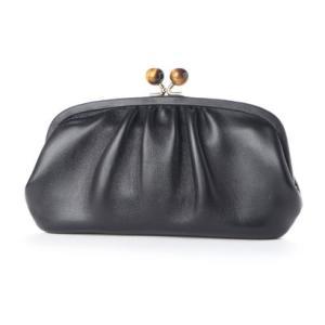 ペルケ perche ジェムストーンがま口長財布 (ブラック)|ブランド公式 LOCOMALL ロコモール