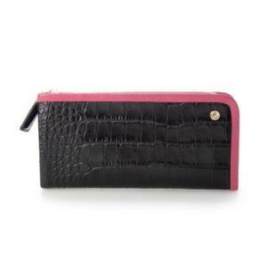 ペレボルサ PELLE BORSA 長財布 (ブラックマゼンタ)|ブランド公式 LOCOMALL ロコモール