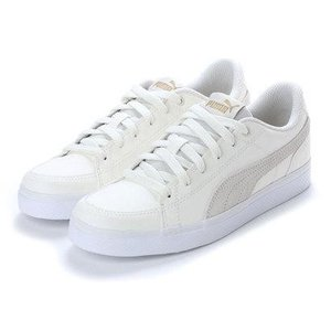 プーマ PUMA COURT POINT V2 SD BG(コートポイントV2SDBG) 366142 (アイボリー)|locondo-shopping