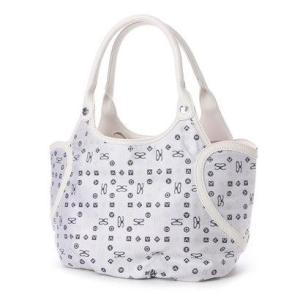 サボイ SAVOY ジャガード織・サボイロゴ柄のバッグ (ホワイト)|ブランド公式 LOCOMALL ロコモール