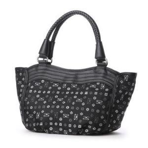 サボイ SAVOY ジャガード織・サボイロゴ柄のバッグ (ブラック)|ブランド公式 LOCOMALL ロコモール