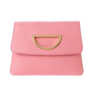 サマンサタバサ VioletD(バイオレット D) チェーン付きクラッチバッグ ピンク