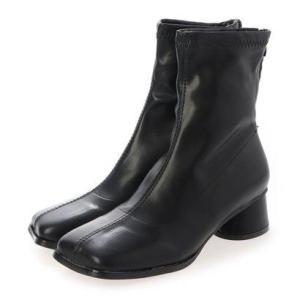 シュベック SVEC スクエアトゥショートブーツ (ブラック)|ブランド公式 LOCOMALL ロコモール