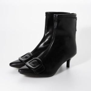 シュベック SVEC バックルショートブーツ (ブラック)|ブランド公式 LOCOMALL ロコモール