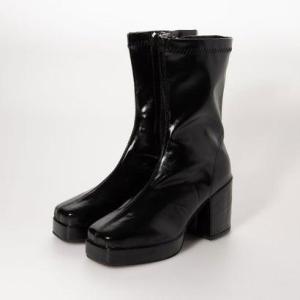 シュベック SVEC ボリュームソールショートブーツ (ブラック)|ブランド公式 LOCOMALL ロコモール