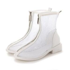 シュベック SVEC フロントジップブーツ (ホワイト)|ブランド公式 LOCOMALL ロコモール