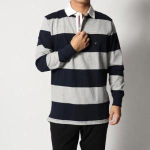c2dae7536b4 トミーヒルフィガー TOMMY HILFIGER ストライプラガーシャツ (ネイビー ...
