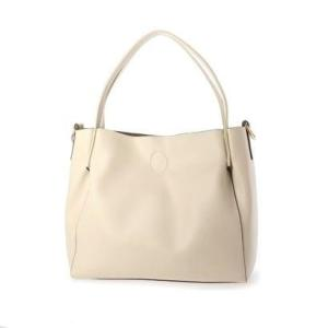 ヴィータフェリーチェ VitaFelice ホワイトトートバッグ 2wayショルダーバッグ レオパードインナーバッグ付き(LIVORY) ブランド公式 LOCOMALL ロコモール