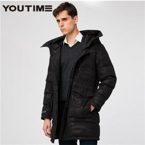 ダウンコート ダウンジャケット コート メンズ ダウン 秋冬 ロングコート あったか フード付 ロング 大きいサイズ|locoprime