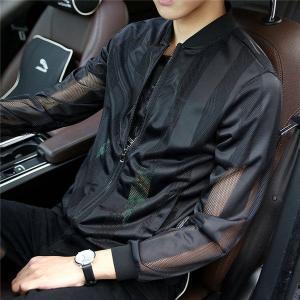 速乾 UVジャケット メンズ UVカット 長袖 ドライ ジップジャケット UVカット 紫外線防止 メッシュ スポーツ 送料無料|locoprime