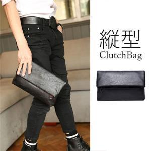 クラッチバッグ メンズ レディース セカンド バック ミニバッグ ブラック 縦型 結婚式 小さめ 大きめ 鞄 シンプル|locoprime